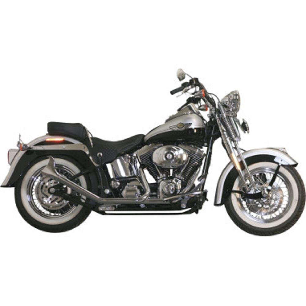 Paughco 1 3//4in Chrome 426SBS Side-by-Side Upsweep Fishtail Exhaust System