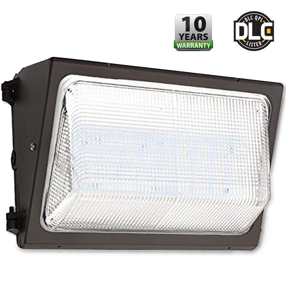 UL & DLC Listed- LED 50W Wall Pack Outdoor Lighting, 5000K Cool White, 4,500 Lumens, 250 Watt Equivalency, 48,000 Life Hours, HIGHEST Quality, Wall Light, Industrial, Commercial