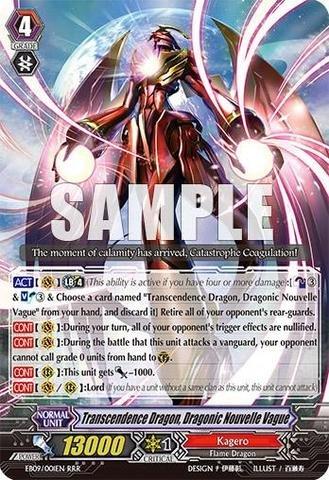 - Cardfight!! Vanguard TCG - Transcendence Dragon Dragonic Nouvelle Vague (EB09/001EN) - Extra Booster Pack 9: Divine Dragon Progression