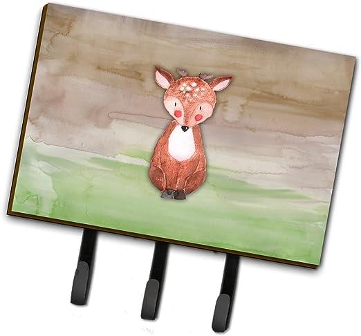 Carolines Treasures Baby Deer Watercolor Wall Hook Triple Multicolor