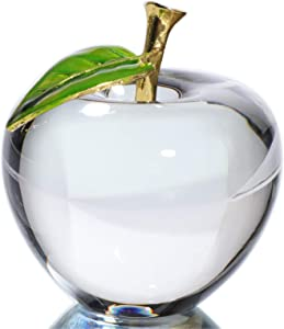 Waltz&F Crystal Clear Apple Collectible Figurines Home Office Decoration