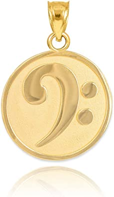 Details about  /New Real Solid 14K Gold 16MM Musical Notes Charm