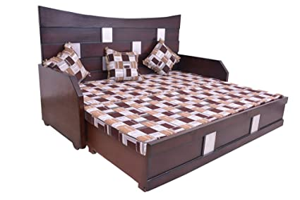 Adlakha Furniture Diwan Cum Bed Aluminium Plates Wood Brown