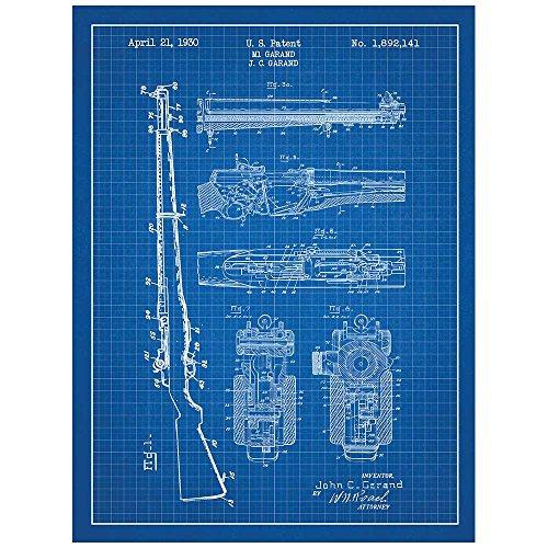 Inked and Screened SP_Milt_1,892,141_BG_24_W Military and Weaponry M1 1,892,141-J.C. Garand Print, 18