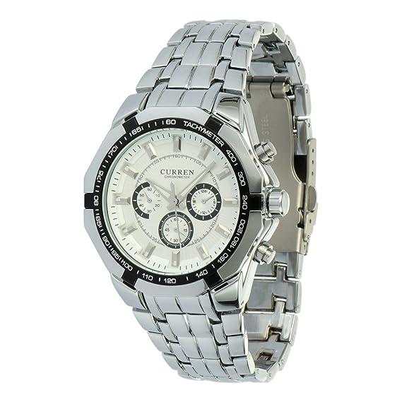 Readeel New Fashion Quartz Hours Stainless Steel Water Resistant Men Analog Leisure Wrist Watch