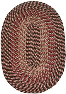 product image for Constitution Rugs Plymouth 8' Round Braided Rug in Black