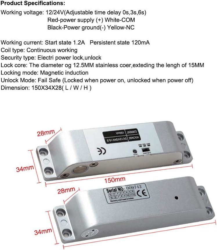 Electric Drop Bolt Lock Dongyang Mini Biometric Fingerprint Access Controller RFID Standalone Fingerprint with Electric Drop Bolt Lock,DC12V Power Supply,Door Exit Button 10pcs RFID Keyfobs