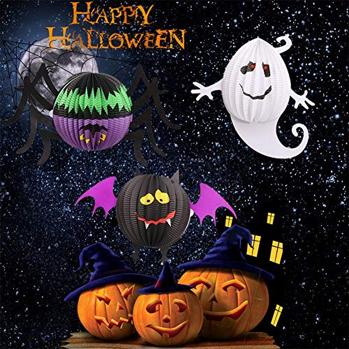 s - 3pcs Set Hanging Spider Ghost Bat Shape Halloween Lantern Paper Party Decoration - Cars Purple Murals World Eyelash Under Roses Cherry Arabic Tower Trees Bible Stickers Clouds ()