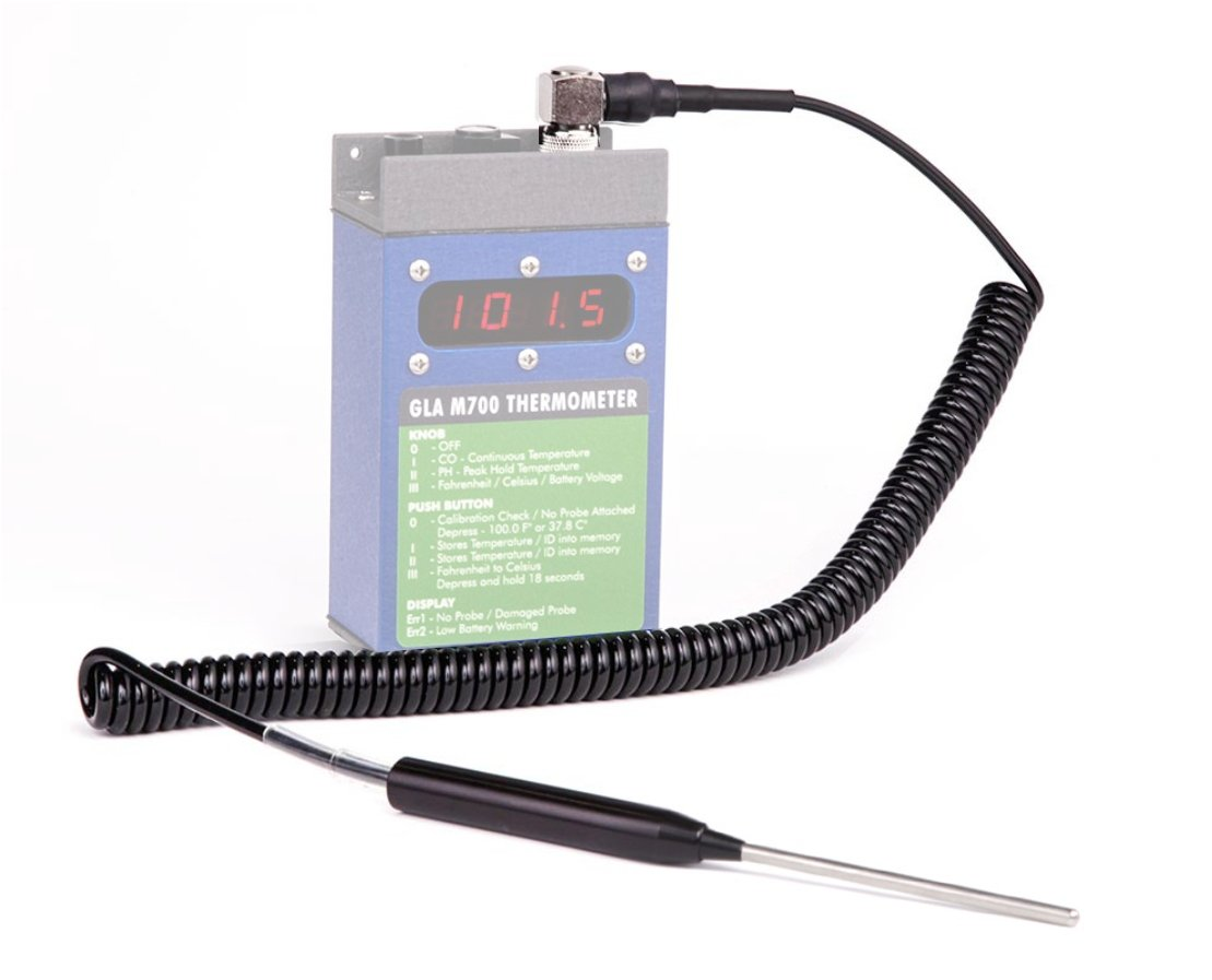 M750 or M900 Livestock Thermometer Replacement Probe for GLA M700 4 Straight