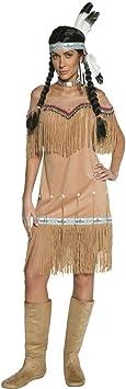 NET TOYS Traje de India o Pocahontas Disfraz aborigen Mujer Oeste