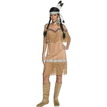 NET TOYS Traje de India o Pocahontas Disfraz aborigen Mujer ...