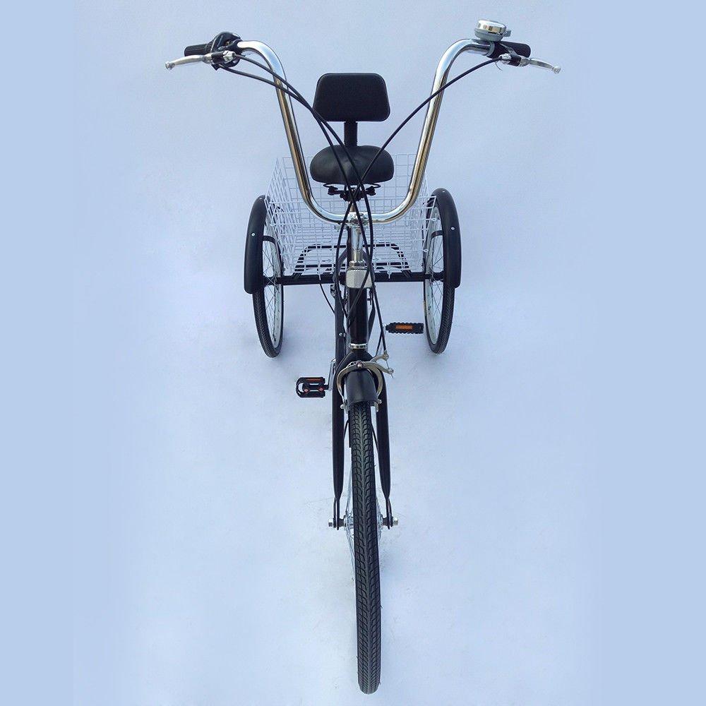 Negro Prit2016 triciclo adulto con cesta 24/3/ruedas 6/velocidades ajustable