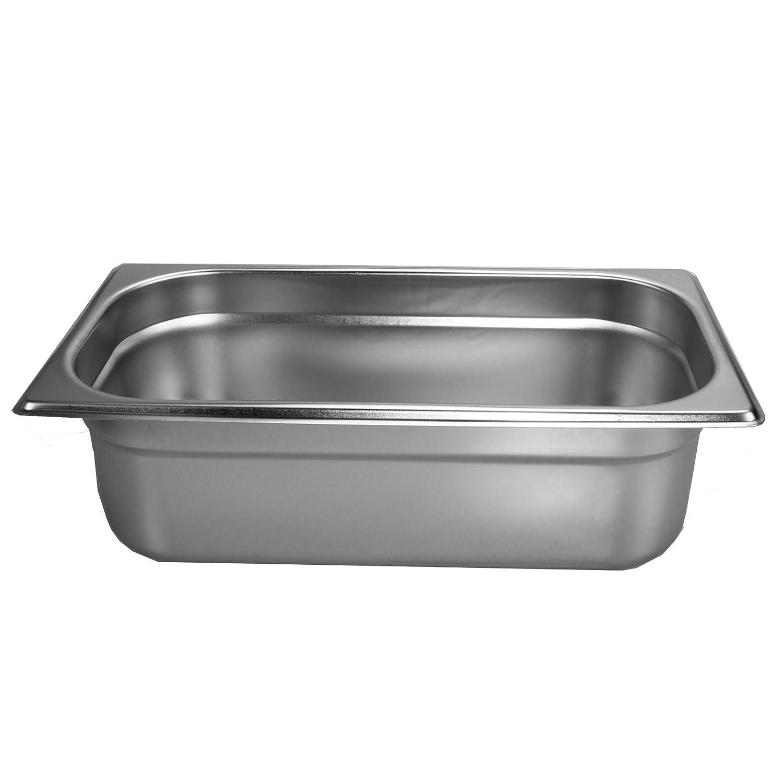 GN Bain Marie Behälter Gastronormbehälter 2//4  Edelstahl Behälter 65 mm NEU