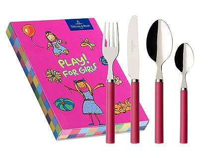 Villeroy & Boch Play! for girls - Cubertería infantil (4 piezas), color