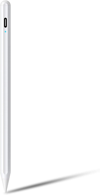 AT-Mizhi Stylus Pen for Apple iPad Pencil 2018-2020, iPad Stylus Palm Rejection, High Precision, Auto Sleep, Compatible with iPad 6th 7th Gen/iPad Pro 11''&12.9''/iPad Air 3rd Gen/iPad Mini 5th Gen