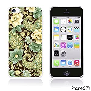 Flower Pattern Hardback For SamSung Galaxy S6 Case Cover - Elegant Gold Pisley