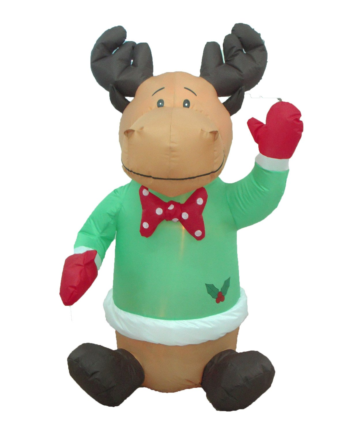 Amazon.com: 4 Foot Christmas Inflatable Cute Smiling Reindeer W/ Holly  Garden Blow Up Decor: Home U0026 Kitchen