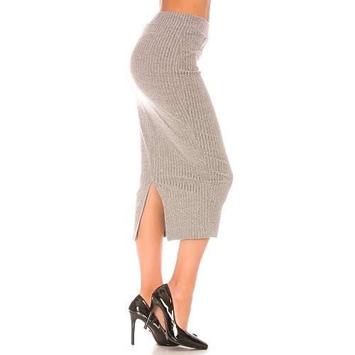 Miss Wear Line - Falda - para mujer gris gris