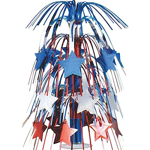 Large Patriotic Star Foil Cascade Centerpiece 4th of July Party Table Decoration, 18