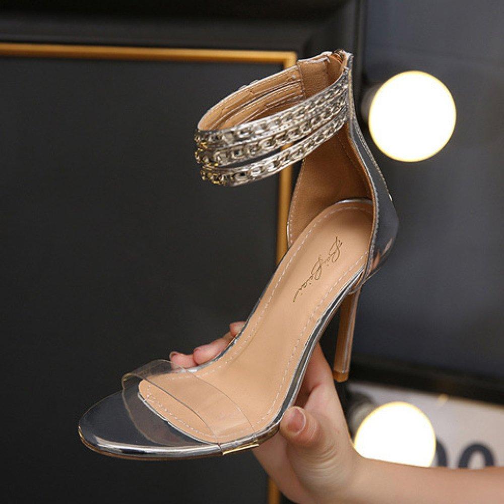 Frauen Sexy Knöchelriemen Party Sandalen Ausgeschnitten Stiletto High High High Heels Damen Peep Toe Schuhe Club Hochzeit Riemchen Pumps 85fc3b