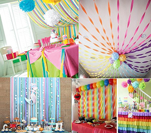 Crepe Paper Streamers For Various Birthday Party Class Party Wedding