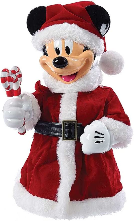 Kurt Adler 10-Inch Mickey Mouse Treetop/Tablepiece with Bendable Arms