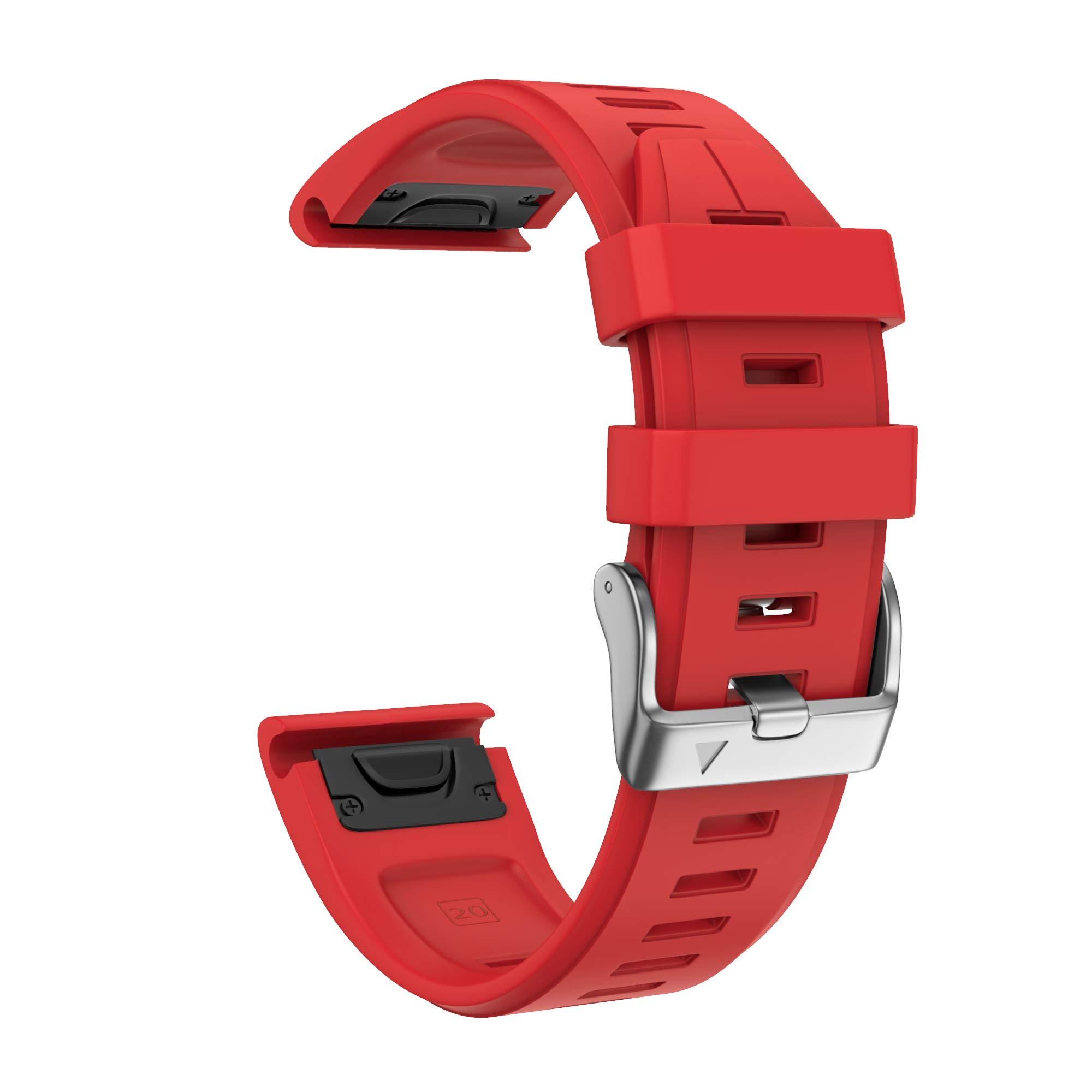 ANCOOL Compatible with Fenix 5S Plus Bands 20mm Width Easy Fit Soft Silicone Watch Bands Replacement for Fenix 6S/Fenix 6S Pro/Fenix 5S Smartwatches, Red by ANCOOL