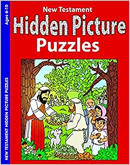 New Testament Hidden Pictures Bible Story Puzzle 9780764704369