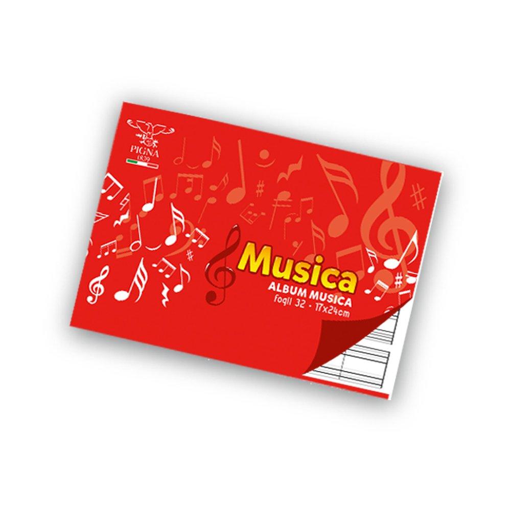 Pigna Musica Album Pentagrammato, Confezione da 10 Pezzi Cartiere Paolo Pigna