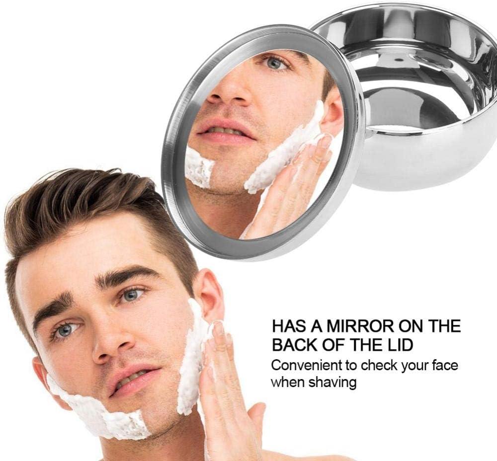 Viva Bol /à raser universel en acier inoxydable pour homme avec miroir