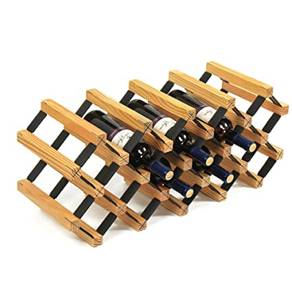 Amazon Com Yxx Kitchen Cabinet Wooden 18 Bottle Diy Wine Rack For