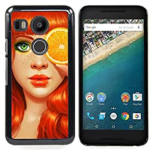 Stuss Case / Funda Carcasa protectora - Ginger Orange ojos del arte - LG GOOGLE NEXUS 5X H790