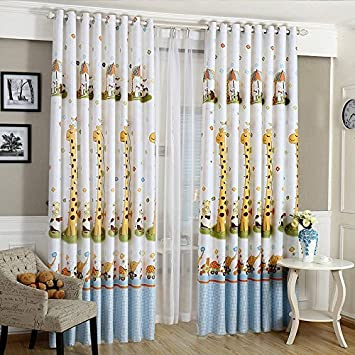 Motif Girafe Abat Jour Moderne Store Fenêtre Rideau Occultant épais Pour  Enfants Salon La Chambre