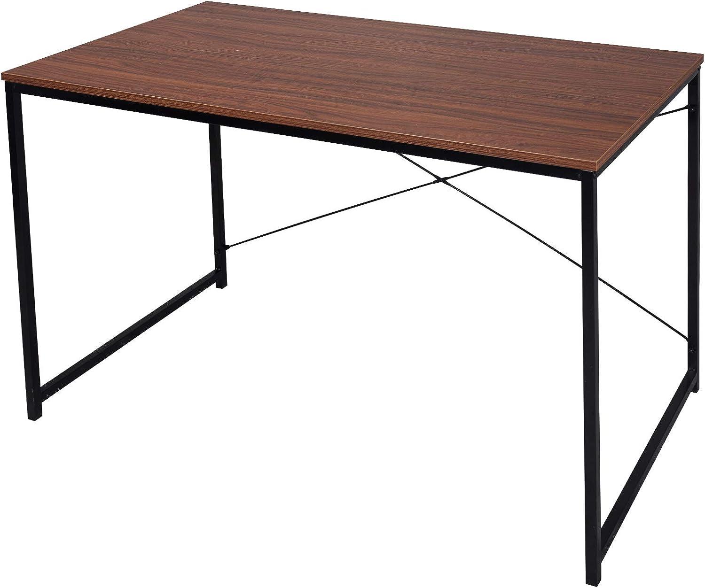WOLTU Escritorio de Computadora Muebles de Oficina Mesa de PC Mesa de Oficina Ordenador con Diseño Industrial, Madera y Acero 120x60x70cm Marrón Oscuro+Negro TSB08br: Amazon.es: Hogar