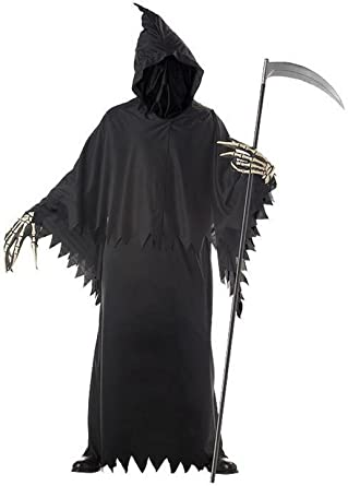 f797ad634d Amazon.com  Grim Reaper Deluxe Adult Costume Size One Size  Clothing
