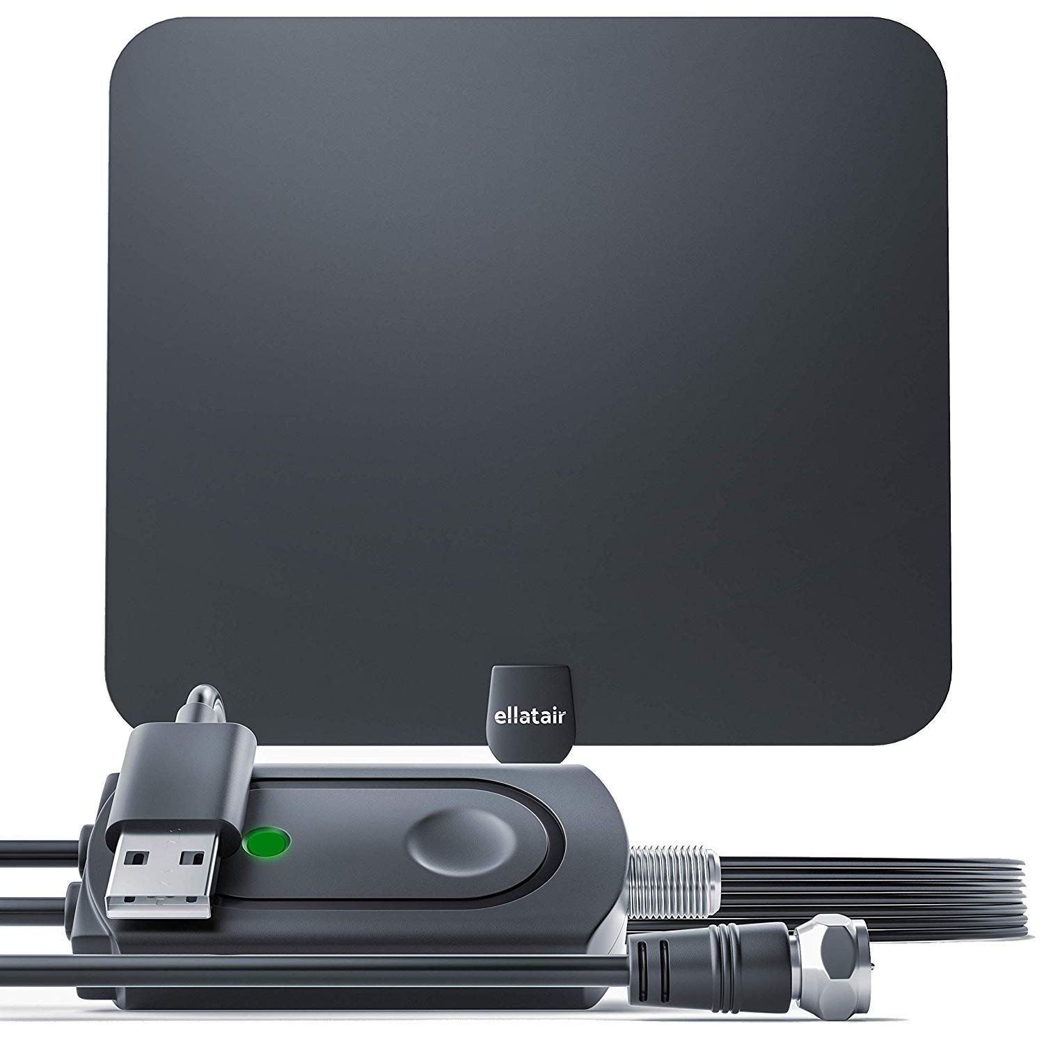 Amplified HD Digital TV Antenna All Older TVs for Indoor TV Digital HD Antenna with Signal Booster 13.2FT Coaxial Professional Version Cable Support 4K 1080P Life Local Channels 80+ Miles