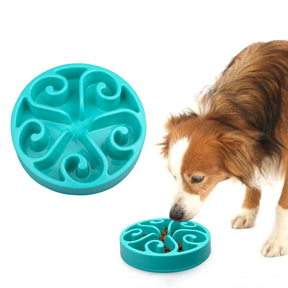 Slow Feeder Dog Bowl Bloat Stop Dog Food Bowl Maze Interactive Puzzle Dog Bowl for Large Medium and Small Dogs,Eco-Friendly Non-Toxic