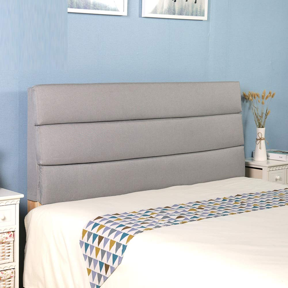 PENGFEI Bed Backrest Cushion Bedside Soft Cover Large Pillow Lumbar Upholstered, Suitable for Beds with Headboard 8 Colors, 4 Sizes (Color : Light Gray, Size : 120x60 cm)