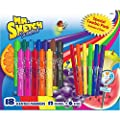 Mr. Sketch Scented Markers, Chisel Tip, Assorted Colors