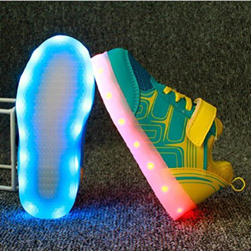[Present:small towel]JUNGLEST® High Quality USB Charging LED Lighted Luminous for Unisex Couple Casual Sport Shoes Sneakers 7 color USB rechargeable LED C29 eaeAjnSnXq