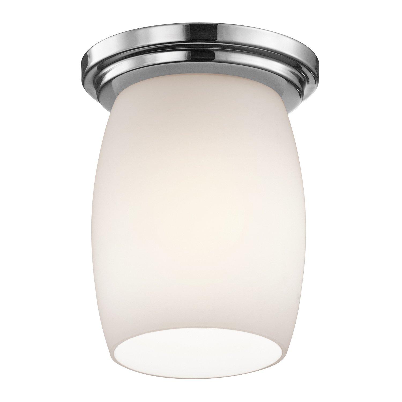 kichler 8043ni one light flush mount flush mount ceiling light fixtures amazoncom