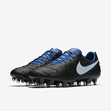 1efdd0517 Nike Tiempo Legend VI FG Soccer Cleats Black White Game Royal 819177-014 Sz  8