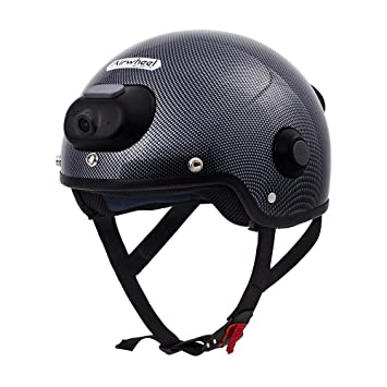 NBZH Smart Casco Motocicleta Bicicleta Skateboarding Casco Bluetooth Altavoz con Cámara para 2K Vídeo Y Foto