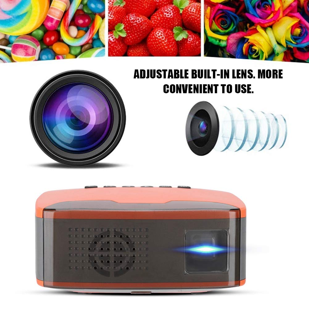 Videojuegos pel/ículas 110-240V EU Super Mini proyector Port/átil 1080P HD LED Proyector de Bolsillo Home Cinema Beamer Compatible con HDMI TF para Cine en casa AV USB Fiestas y acampadas VGA