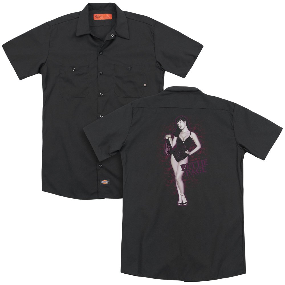 Bettie Page Lacy Adult Work Shirt