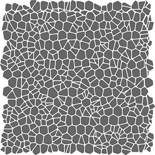 Crackle Pattern Stencil - (size 6.5