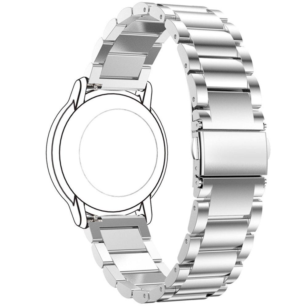 Sangle Ruentech de remplacement de 22 mm pour montre en métal Fossil Q Connected / Crewmaster Gen 2 hybride / fondateur Gen2 Touch / Nate Gen 2 hybride ...