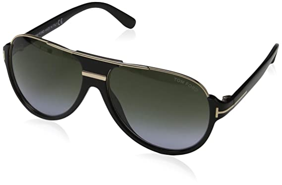 18547405fd9ff Tom Ford 0334S 01P Black Gold Dimitry Pilot Sunglasses Lens Category 3 Lens  M