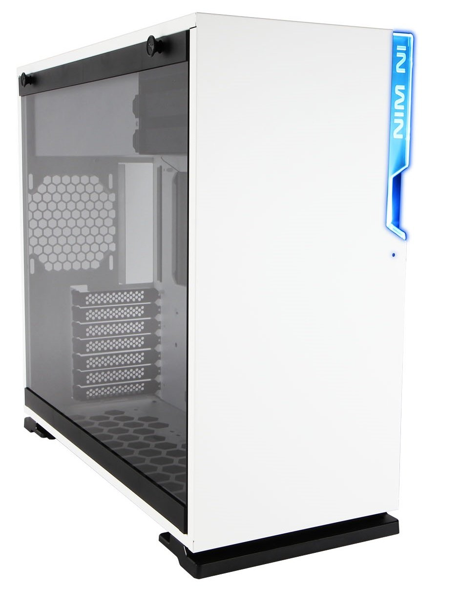 InWin 101 White ATX Mid Tower Gaming Computer Case with Tempered Glass by InWin