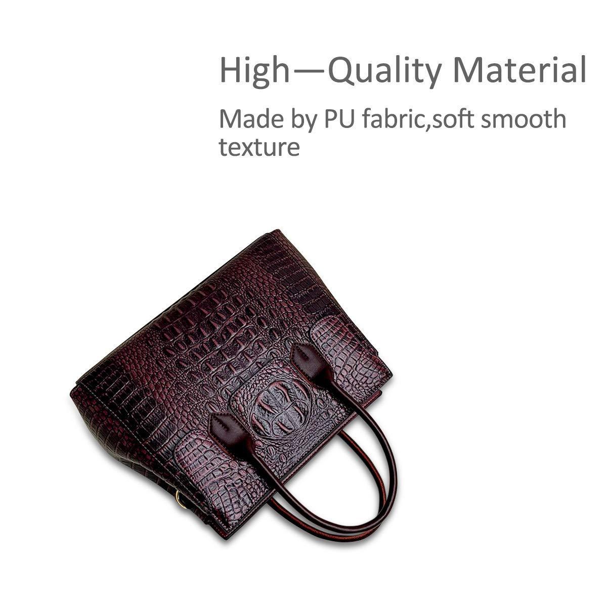 Taschen Handtaschen Designer Taschen Krokodil Top umhängetasche luxuriöse Ledertasche Ledertasche Ledertasche Damen PU Leder(Maulbeere) B07PWXS9VD Umhngetaschen Geschwindigkeitsrückerstattung 0e5e47